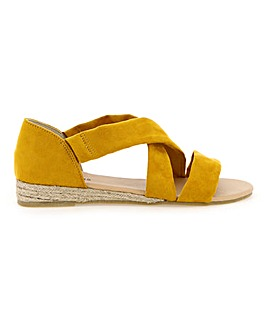 Soft Strap Espadrille Sandals EEE Fit