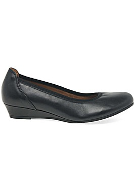 Gabor Chester Wider Fit Low Wedge Pumps