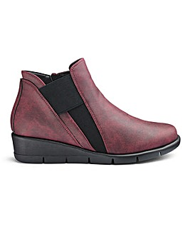 Cushion Walk Wedge Ankle Boots E Fit