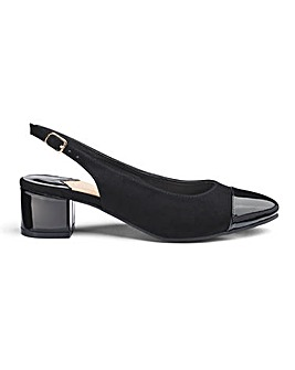 Block Heel Slingback Shoes Extra Wide EEE Fit