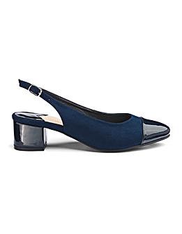 Block Heel Slingback Shoes EEE Fit