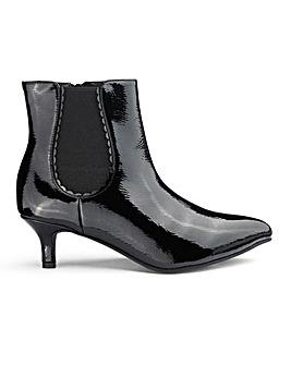 Patent Kitten Heel Chelsea Boots Wide E Fit