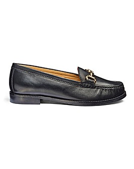 Premium Leather Trim Detail Loafers Wide E Fit