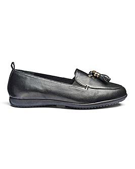 Leather Tassel Slip On Shoes EEE Fit
