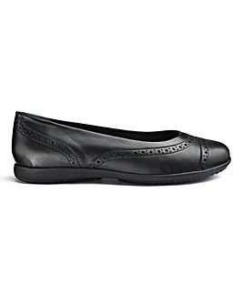 Leather Brogue Slip On Shoes E Fit