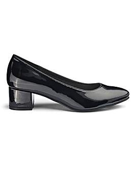 Block Heel Court Shoes E Fit