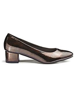 41ff9dfb391 Block Heel Court Shoes EEE Fit