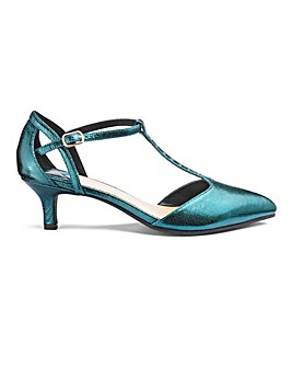 Kitten Heel T Bar Shoes EEE Fit