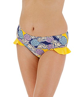 Ruffle Trim Hipster Bikini Brief