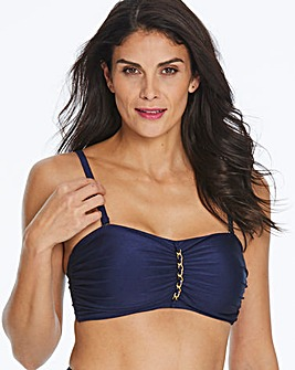 Multiway Bandeau Chain Front Bikini Top