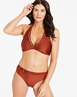 Halterneck Chain Trim Bikini Set