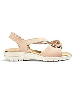 Hotter Hannah Nubuck Sandals Standard D Fit