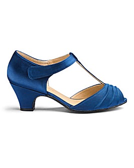 Touch And Close T Bar Occasion Shoes Wide E Fit