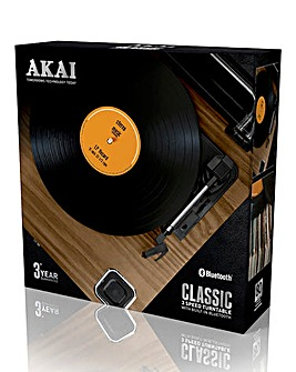 Akai 3 Speed Bluetooth Turntable Wood