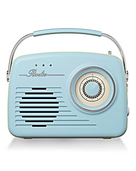 Akai Retro FM/AM Radio Blue