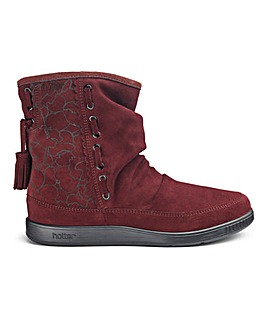 Hotter Pixie Suede Slouch Ankle Boots Standard D Fit