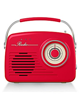 Akai Retro FM/AM Radio Red