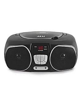 Akai CD Radio Boombox Black