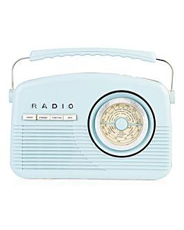 Akai Retro DAB Radio Blue