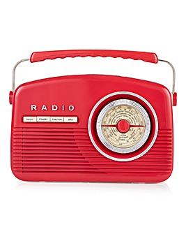 Akai Retro DAB Radio Red