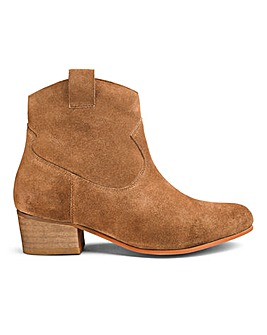 Suede Western Ankle Boots E Fit