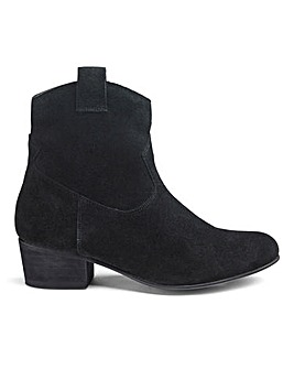 Suede Western Ankle Boots EEE Fit