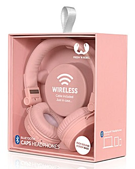 Fresh n Rebel Pink Caps Wireless Headphones