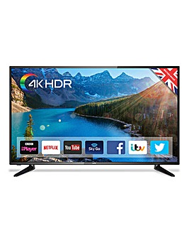 Cello 50in Smart 4K UHD TV + Ins