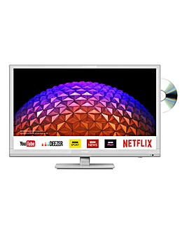 Sharp 24in HD Ready Smart TV Combi White