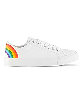 Rainbow Canvas Lace Up Shoes EEE Fit