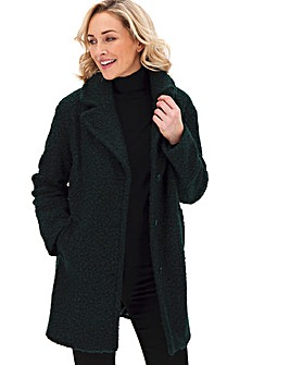 Oasis Curve Boucle Teddy Coat