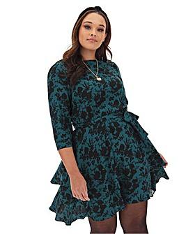 Oasis Curve Floral Print Skater Dress