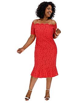 Oasis Curve Bardot Midi Dress
