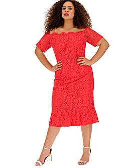 Oasis Curve Bardot Midi Dress