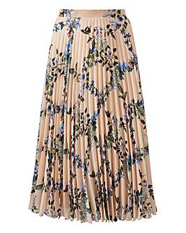 Oasis Curve Floral Pleated Skirt