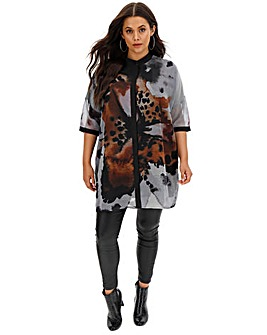 Religion Sequence Floral Print Tunic