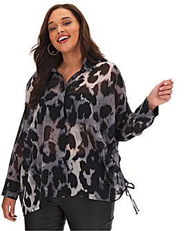 Religion Creation Animal Print Blouse