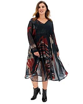Religion Print Midi Dress