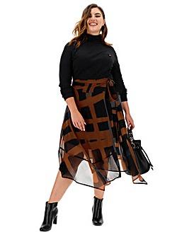Religion Titan Asymmetric Midi Skirt