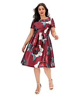 Chi Chi London Printed Dress