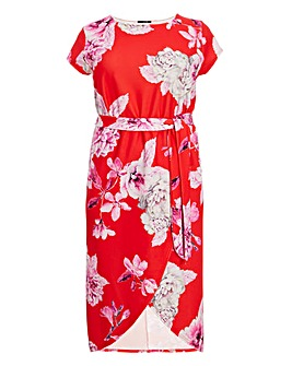 Quiz Floral Printed Wrap Dress