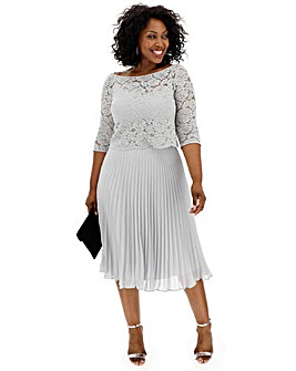Oasis Curve Lace Top Midi Dress