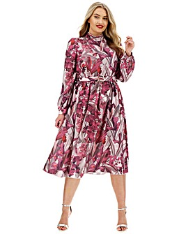 Little Mistress Belted Midi Dress