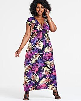 Apricot Printed Smock Maxi Dress