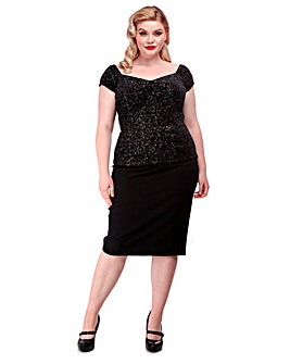 Collectif Dolores Glitter Top
