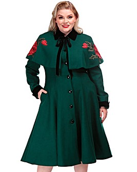 Collectif Embroiderd Coat & Cape