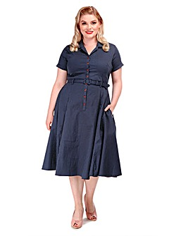Collectif Caterina Polka Dot Dress