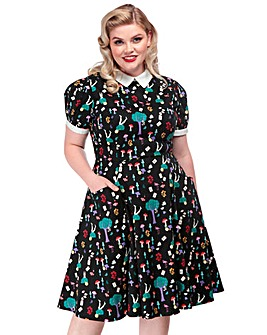 Collectif Peta In Wonderland Dress