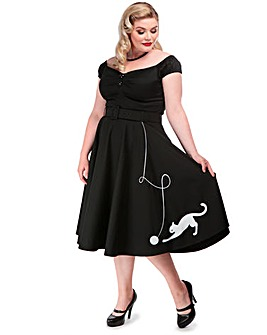 Collectif Kitty Cat Swing Skirt