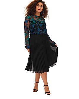 Lovedrobe Embroidered Overlay Dress